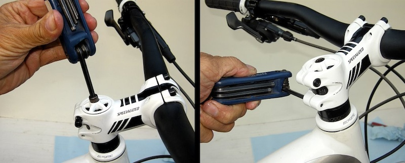 Step 12 - To adjust the headset screw the cap bolt in until it is snug and then back it out one fourth turn. Torque the stem clamp bolts to the recommended value and then recheck all bolts again before you ride.