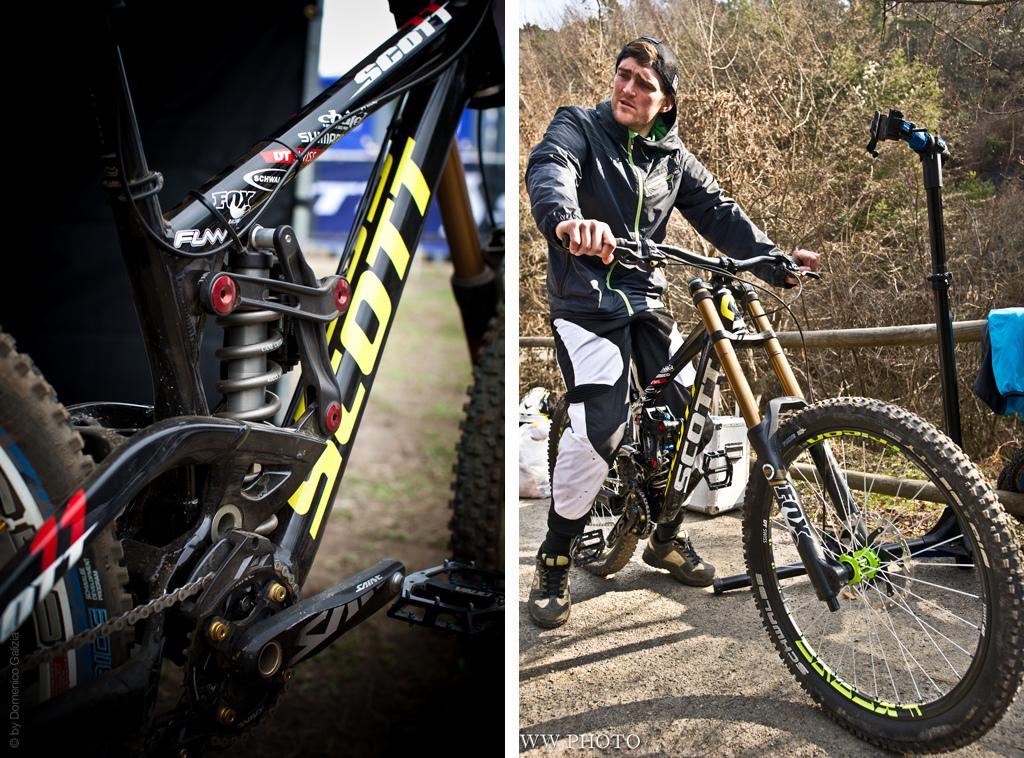 Scott Gambler Prototype - new linkage and team rider.